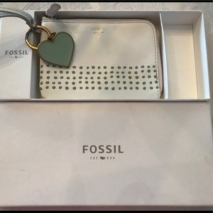 Fossil wristlet with Fossil keychain